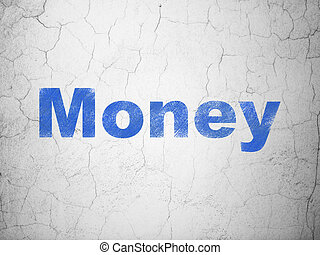 Finance concept: Money on wall background