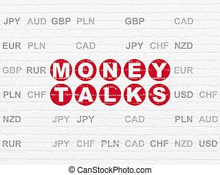 Finance concept: Money Talks on wall background - Finance...