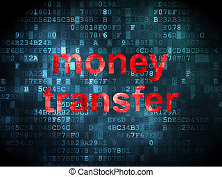 Finance concept: Money Transfer on digital background