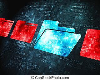 Finance concept: on digital background