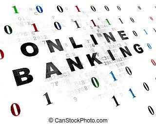 Finance concept: Online Banking on Digital background