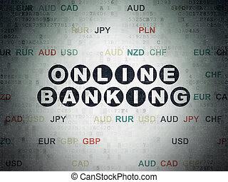 Finance concept: Online Banking on Digital Paper background