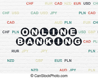Finance concept: Online Banking on wall background