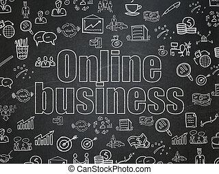 Finance concept: Online Business on School Board background