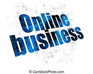 Finance concept: Online Business on Digital background