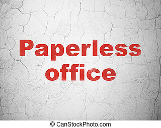 Finance concept: Paperless Office on wall background