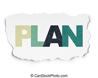Finance concept: Plan on Torn Paper background
