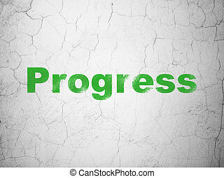 Finance concept: Progress on wall background
