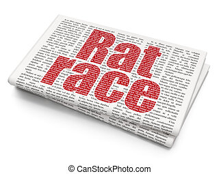 Finance concept: Rat Race on Newspaper background