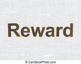Finance concept: Reward on fabric texture background