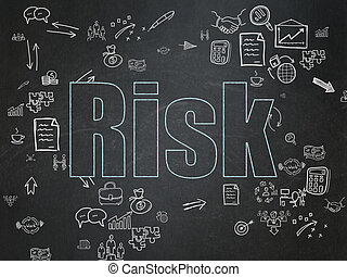 Finance concept: Risk on School Board background