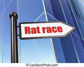 Finance concept: sign Rat Race on Building background