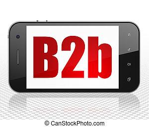 Finance concept: Smartphone with B2b on display