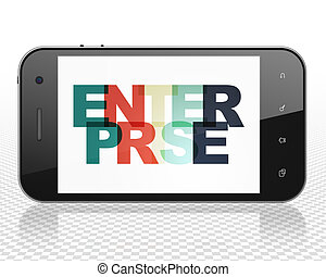 Finance concept: Smartphone with Enterprise on display