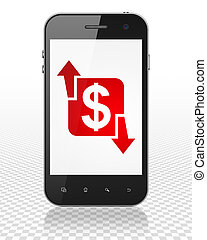 Finance concept: Smartphone with Finance on display