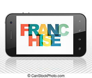 Finance concept: Smartphone with Franchise on  display