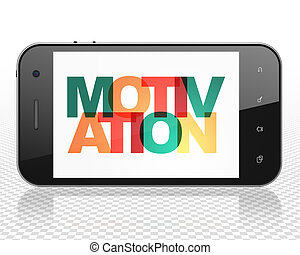Finance concept: Smartphone with Motivation on display