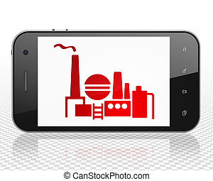 Finance concept: Smartphone with Oil And Gas Indusry on display
