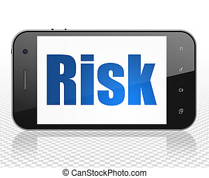 Finance concept: Smartphone with Risk on display