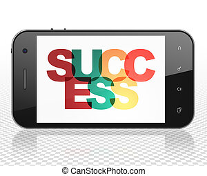 Finance concept: Smartphone with Success on display