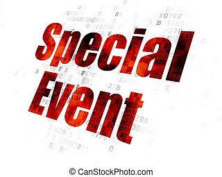 Finance concept: Special Event on Digital background