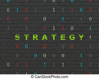 Finance concept: Strategy on wall background