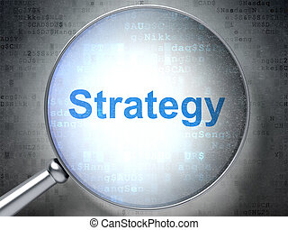 Finance concept: Strategy with optical glass