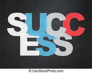 Finance concept: Success on School Board background