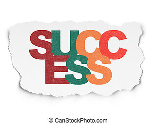 Finance concept: Success on Torn Paper background