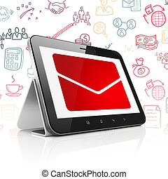 Finance concept: Tablet Computer with Email on display