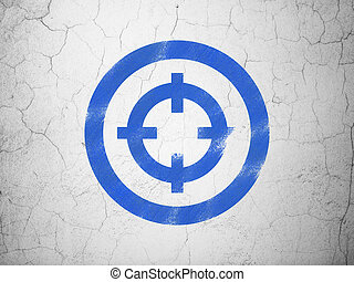 Finance concept: Target on wall background