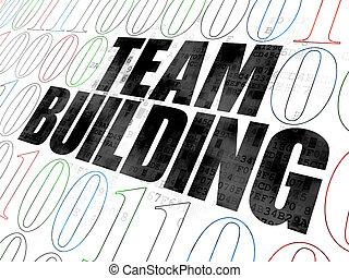 Finance concept: Team Building on Digital background