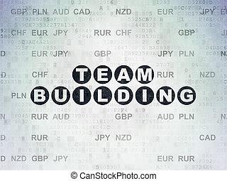 Finance concept: Team Building on Digital Paper background