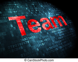 Finance concept: Team on digital background