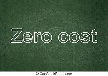 Finance concept: Zero cost on chalkboard background