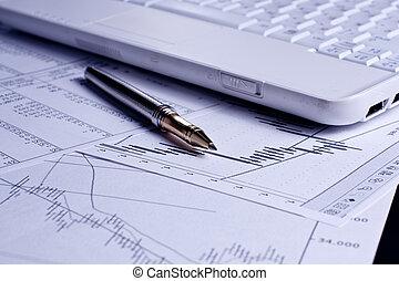 finance, diagrammes, analyse