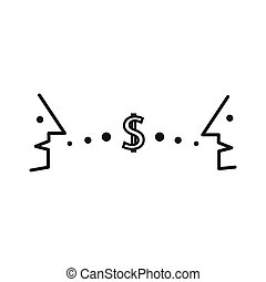 Finance dialogue between two individuals about money