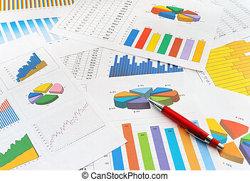 Finance documents  - The heap of finance documents