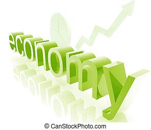 Finance economy improving - Finance economy trend concept...