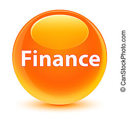 Finance glassy orange round button