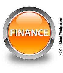 Finance glossy orange round button