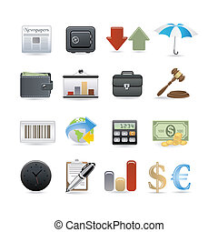 finance icon set for your design