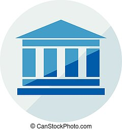 Finance icon. Vector illustration isolated on white background. Bank symbol.