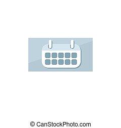 Finance icon. Vector illustration isolated on white background. Calendar symbol.