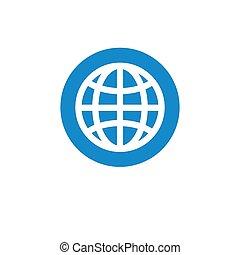 Finance icon. Vector illustration isolated on white background. Globe symbol.