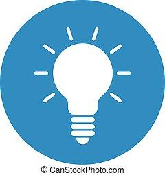 Finance icon. Vector illustration isolated on white background. Light bulb symbol.