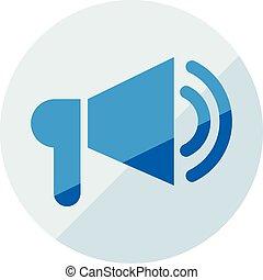 Finance icon. Vector illustration isolated on white background. Loadspeaker symbol.