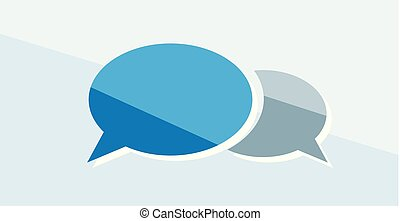 Finance icon. Vector illustration isolated on white background. Speech bubble symbol.