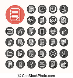 Finance Icons  and Documents note Icons set .Illustration eps10