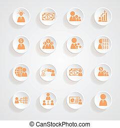 Finance icons button shadows  vector set